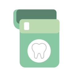 Floss dental isolated icon vector
