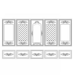 Decorative Ornamented frames vector image