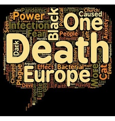 The black death and how it changed europe text vector