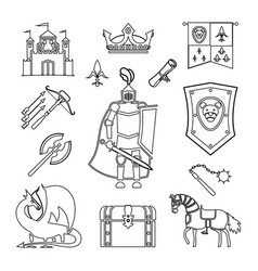 medieval ancient knight armor vector image