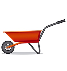 Red wheelbarrow vector