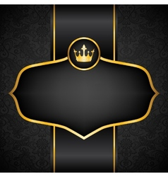Royal black background vector