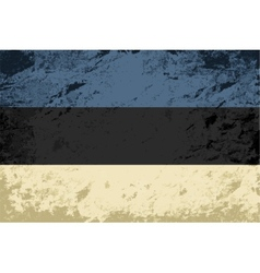 Estonian flag grunge background vector