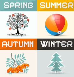 4 - Four Seasons vector image