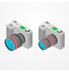Isometric foto camera vector