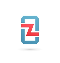 Mobile phone app letter z logo icon design vector