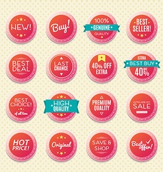 Set of vintage logos badges and labels vector