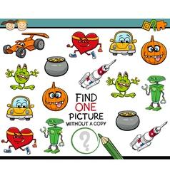 find single picture preschool task vector image