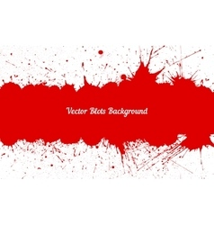Red ink splashes with space for text over vector