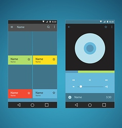 Modern smartphone player interface template vector