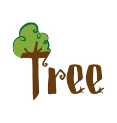 Tree icon nature and plant design graphic vector