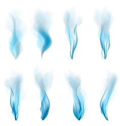Abstract smoke blue background abstract white vector
