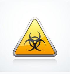 biohazard triangle sign vector image