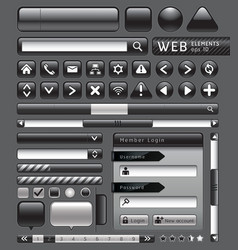Blank buttons for website vector image vector image