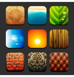 Collection interiors and nature textures vector image vector image