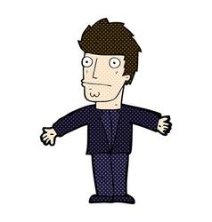 Comic cartoon confused man vector