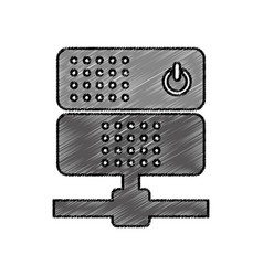 Data server isolated icon vector