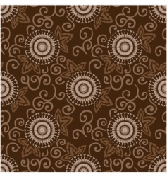 decorative circles pattern vector image vector image