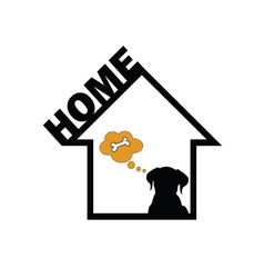 Dog in home vector