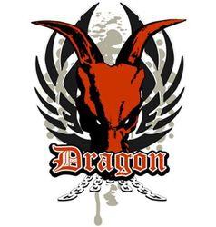 Dragon skull vector