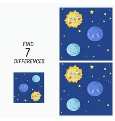 Educational game find the differences vector