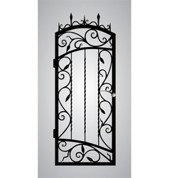 forged gate door vector image