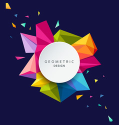 geometric design colorful triangle geometric vector image