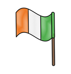 Ireland flag design vector