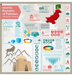 Pakistan infographics statistical data sights vector