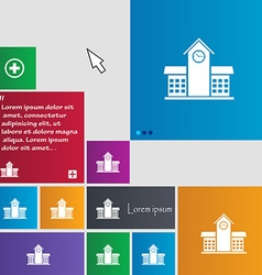 School professional icon sign buttons modern vector