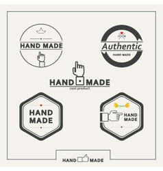 Set of emblems for marking handicrafts vector image