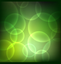 shining green background with light effects vector image vector image