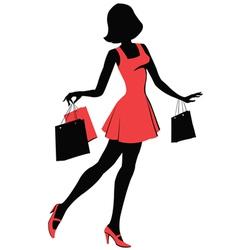 Shopper girl vector