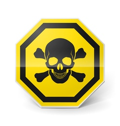 Sign with skull and crossed bones vector image vector image