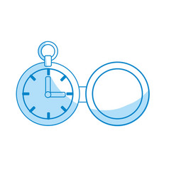 Silhouette clock of pocket to know the time vector