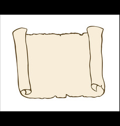 Sketch of ancient scroll isolated on white vector
