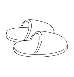Slippersold age single icon in outline style vector