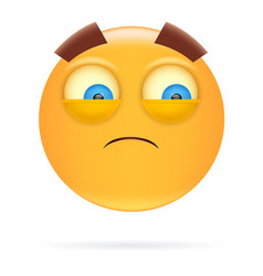 smiley character design icon style sad face vector image