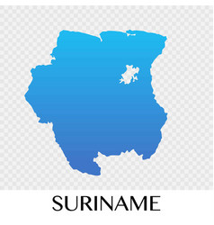 Suriname map in south america continent design vector