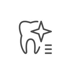 teeth whitening icon vector image vector image