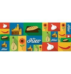 travel and tourism icons Kiev vector image