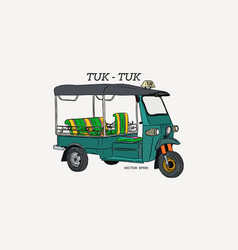 Tuk tuk in thailand vector