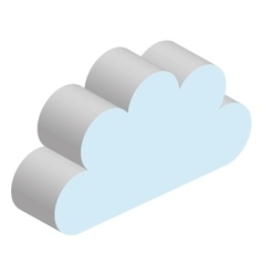 Weather cloud isolated graphic design vector image