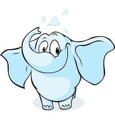 Cute elephant isolated on white background vector