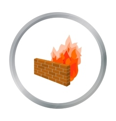 Firewall icon in cartoon style isolated on white vector