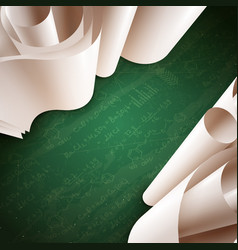 3d paper roll background vector