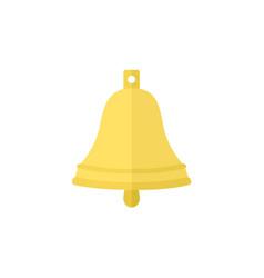 Flat cartoon ship bell vector