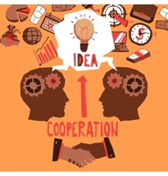 Business cooperation vector
