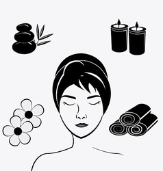 SPA design vector image