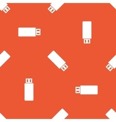 Orange usb stick pattern vector